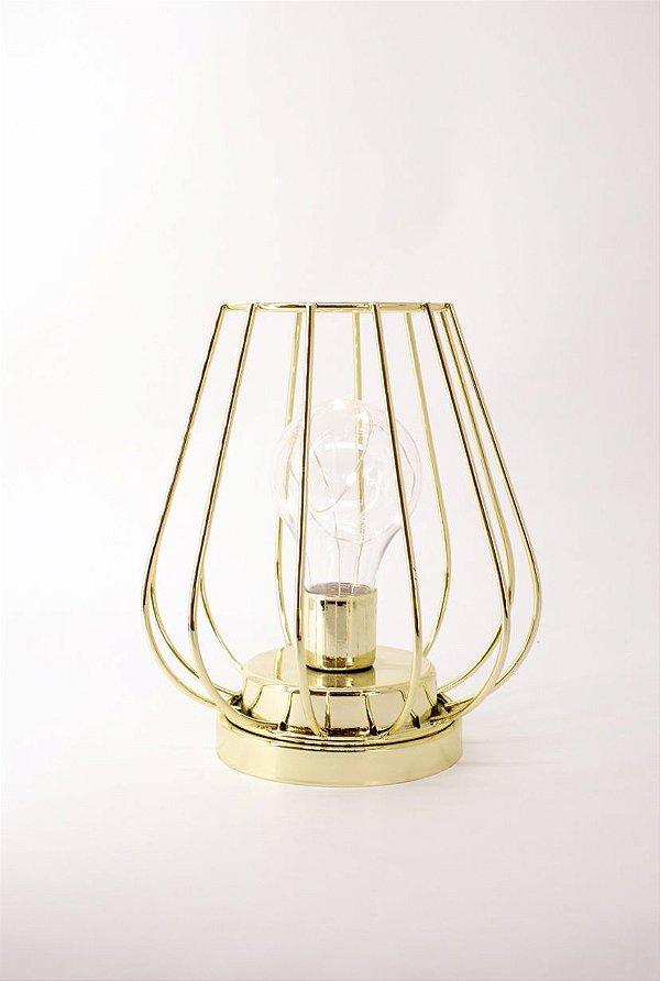 Luminária decorativa DOURADA