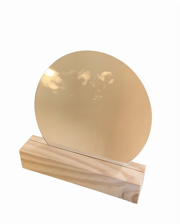 Espelho OVAL madeira
