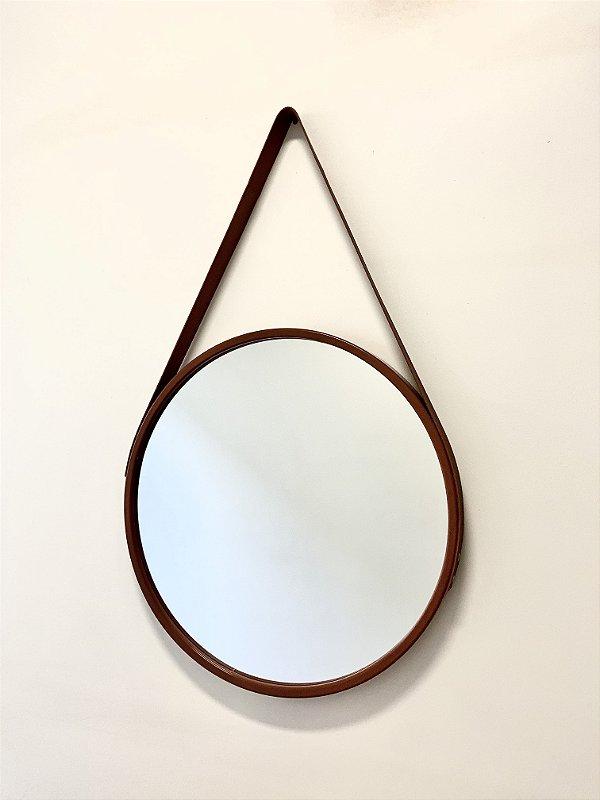 Espelho Decorativo MARROM com alça marrom