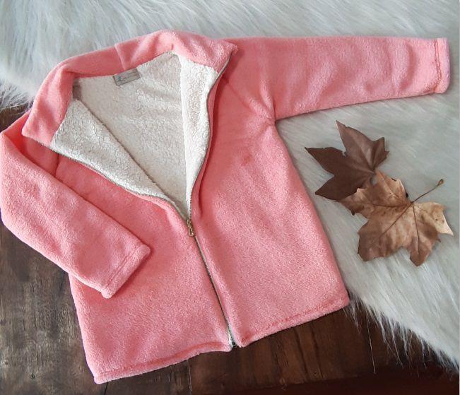 Jaqueta Fofinho Forrada Coral - Rosa Bebê