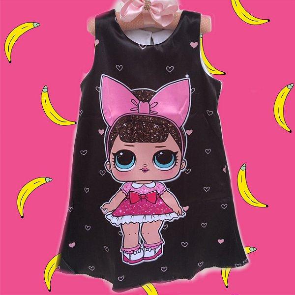 Vestido Boneca Lol Surprise Fancy Glitter