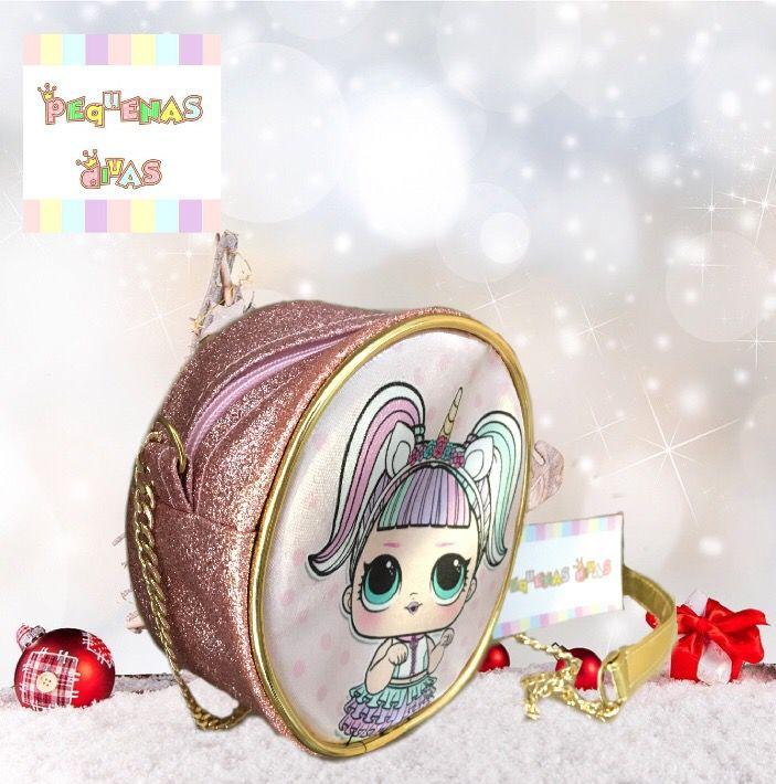 Bolsa LOL Surprise Unicórnio Rosa Linha Glitter Luxo