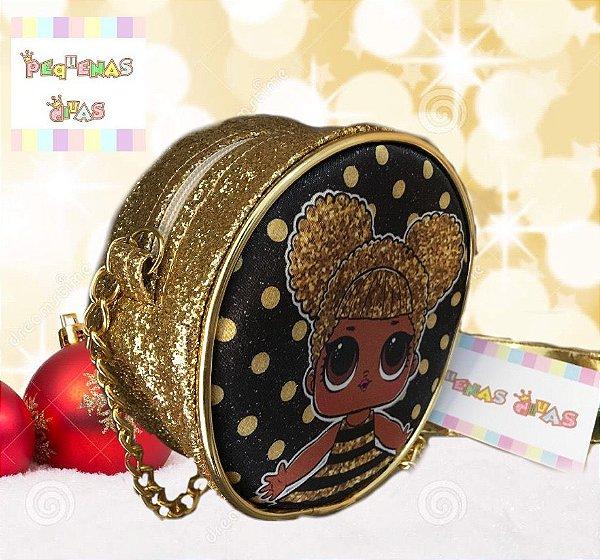 Bolsa LOL Surprise Queen Bee Dourada e Preta