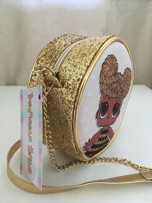 Bolsa LOL Surprise Queen Bee Dourada