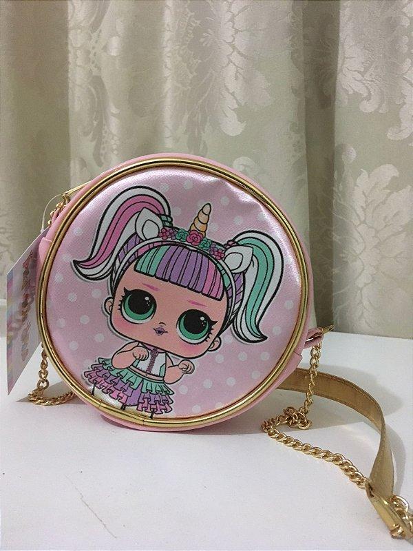 Bolsa LOL Surprise Unicórnio Rosa