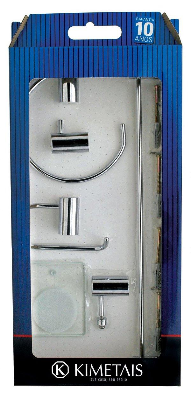 KIT ACESSORIO BANHEIRO DELICATTA C/ 5 PC CR AB 2095 - KT001947