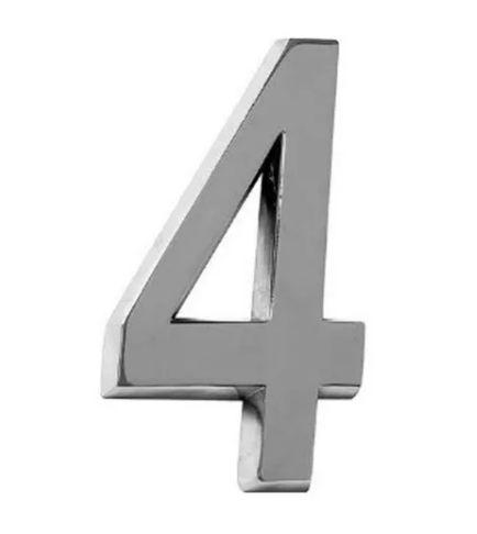 NUMERO RESIDENCIAL ABS CROMADO 3D 4