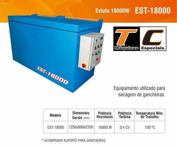 ESTUFA 18000W - EST-18000