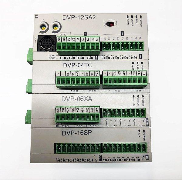 PLC DVP12SA2 COM MÓDULOS DE EXPANSÃO