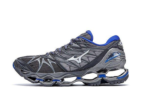 e32df6b4bf Tênis Mizuno Wave Prophecy 7 - Masculino - Prata - Shoes Hub - Seu ...