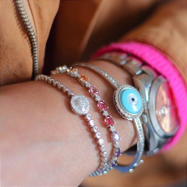 Bracelete Olho Grego Prata 925