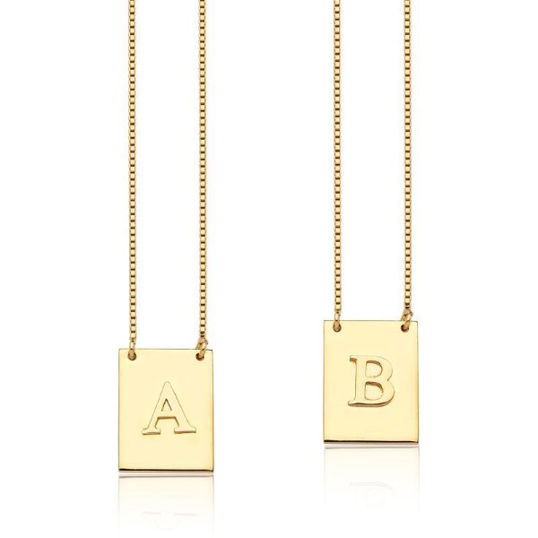 Escapulario 2 Letras Gold - Prata 925