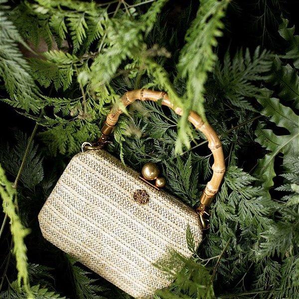 Bolsa Palha Bambu Natural - Alças Duplas