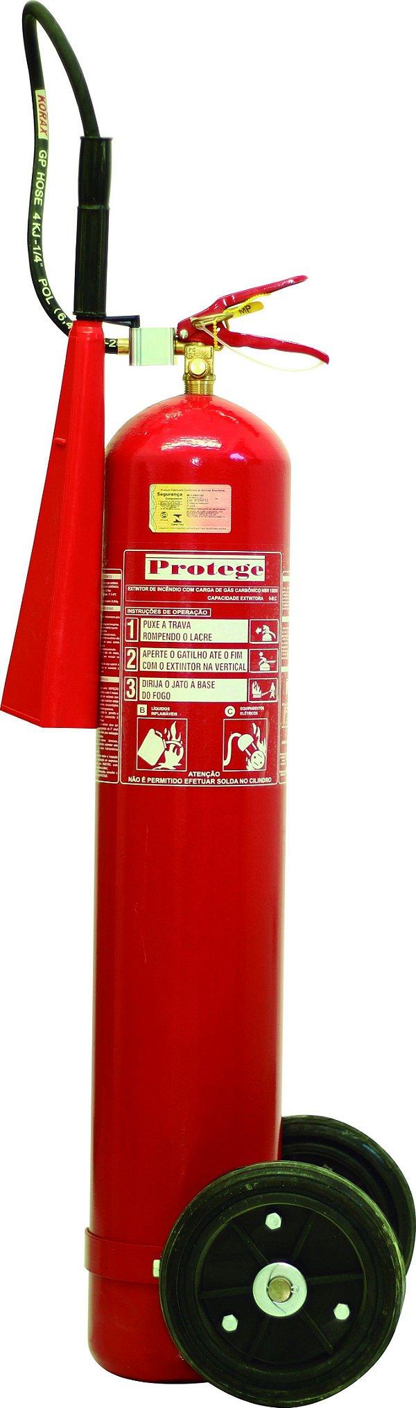 Extintor de incêndio gás carbônico Co2 10KG
