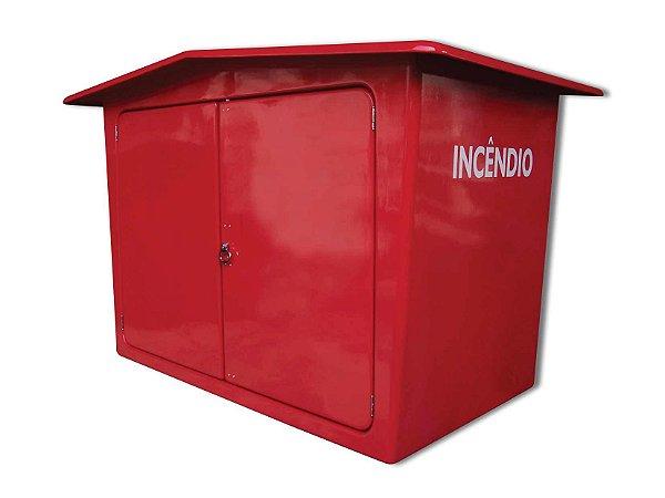 Abrigo caixa para mangueira incêndio em fibra