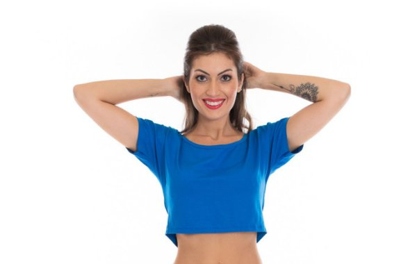 9e7dcd9fa CROPPED AZUL MULLET - Luvitex Fitness