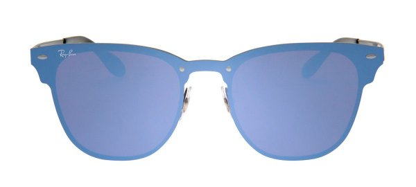 Óculos Ray-Ban RB3576-N Blaze Clubmaster 47 - Azul e Preto - 153 7V ... 85a7745c05