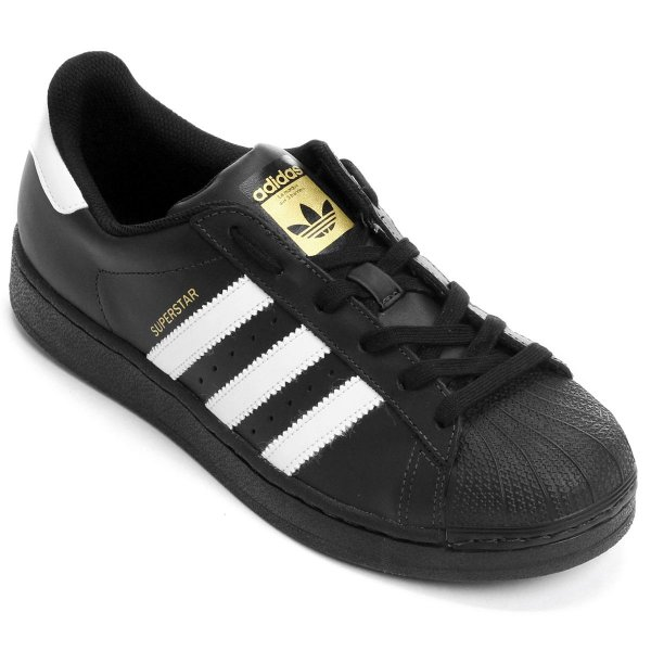 f0893636d5 Tênis Adidas Superstar Foundation - Preto e Branco - OUTLET23