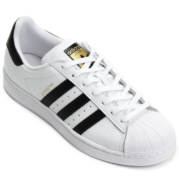 f665a548f6 Tênis Adidas Superstar Foundation - Branco e Preto - OUTLET23