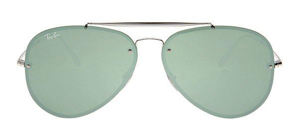 601bc6b2cef5a Óculos de Sol Ray-Ban Óculos Ray-Ban RB3584-N Blaze Aviador 61 ...