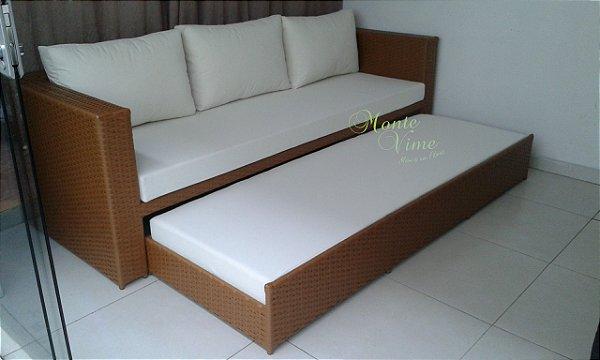 Sofá Mispa com cama auxiliar embutida