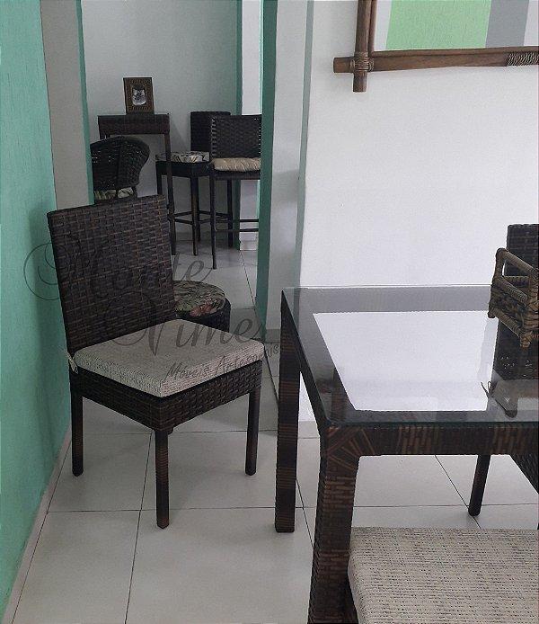 Cadeira Quadrada Mispa com almofada removível