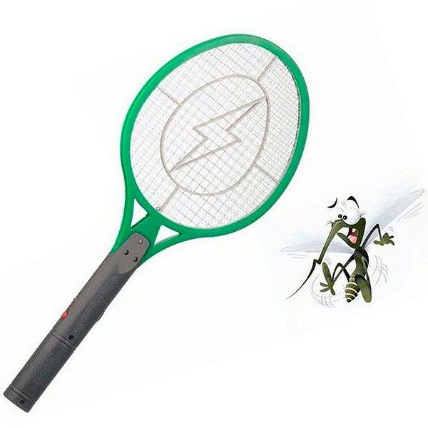 Raquete Elétrica para Matar Moscas, Mosquitos e Pernilongos Recarregável Bivolt - Voltagem 110-220V
