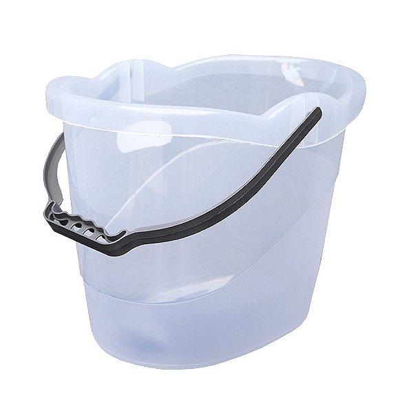 Balde de Plástico Usual Plastic Translúcido Branco de 8 Litros - Medidas: 32 x 23 x 24 cm - Ref. 224