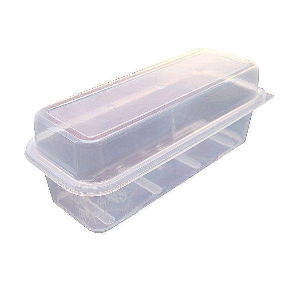 Porta Pão de Forma com Tampa Usual Plastic de Plástico Translúcido - Medidas: 32 x 13 x 12 cm - Ref. 235