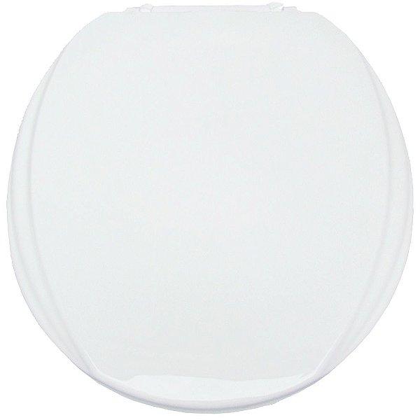 Assento Sanitário Oval Mebuki Línea Slim Almofadado com Tampa Envolvente 39 x 44 x 3 cm - Cor: Branco - AAS01