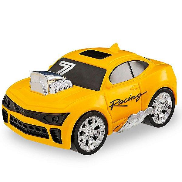 Carro Sport Turbo Streets com Detalhes Cromados Usual Plastic Brinquedos - Ref. 347