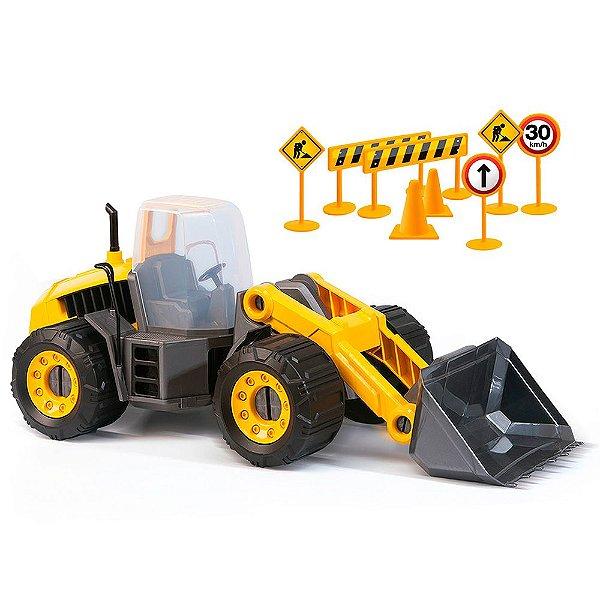 Trator Construction Machine Master Sx 130 305 Usual Plastic Brinquedos - Ref. 305
