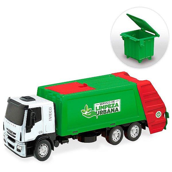 Caminhão Iveco Tector Coletor Usual Plastic Brinquedos - Ref. 342