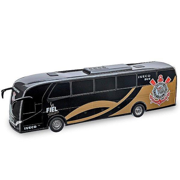 Ônibus Iveco Corinthians Preto Usual Plastic Brinquedos - Ref. 269