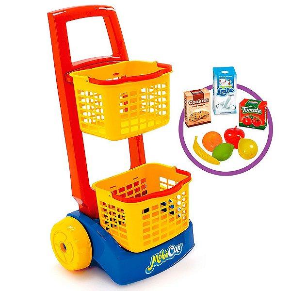 Kit Mobi Car Compras Colorido Usual Plastic Brinquedos - Ref. 239