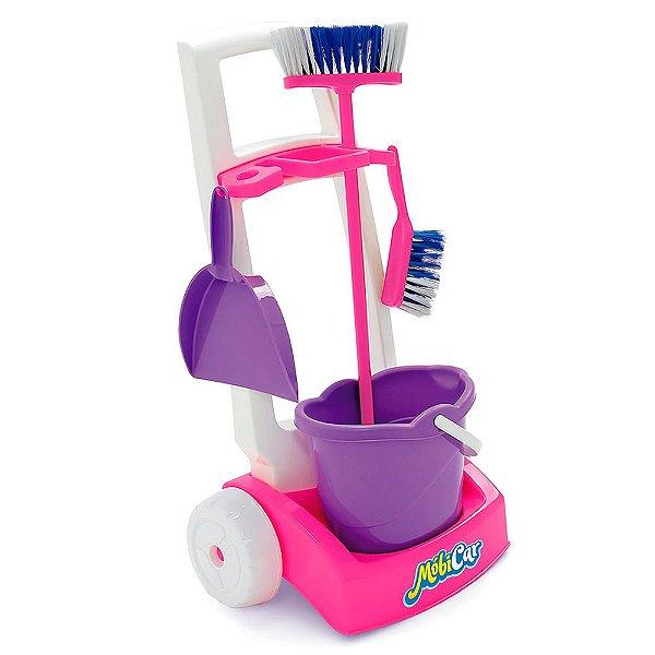Kit Mobi Car Limpeza Colorido Usual Plastic Brinquedos - Ref. 238