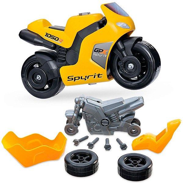 Super Moto Spyrit Movida a Fricção Usual Plastic Brinquedos com Ferramentas - Ref. 152