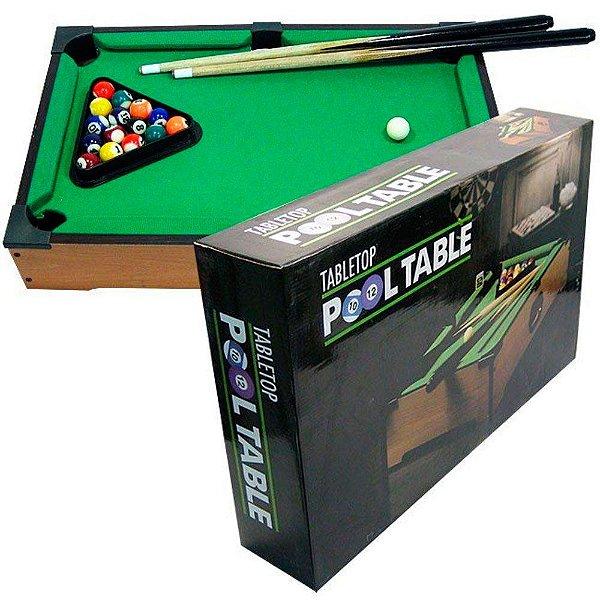 Mini Mesa de Sinuca Bilhar Snooker Infantil Portátil Westpress 32 x 11 x 52 cm