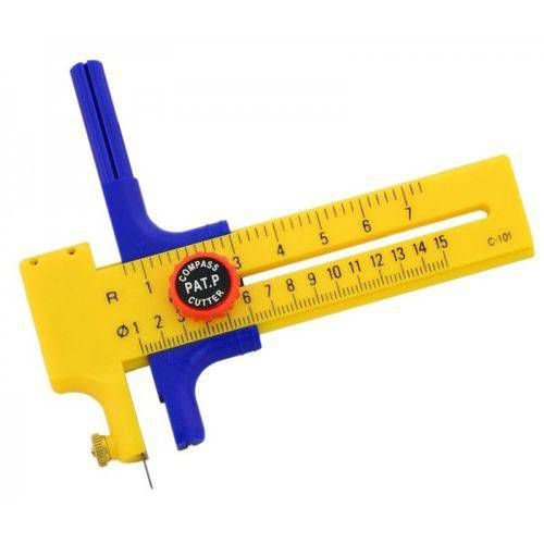 Compasso Cortador Westpress com Corte Circular de 1 a 15 cm