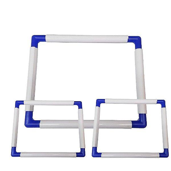 Bastidor Quadrado Azul Desmontável Westpress de Plástico 33 x 27 cm