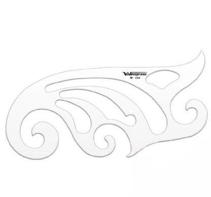 Régua de Acrílico Transparente para Curva Francesa Westpress 18,5 X 7,5 x 2 mm