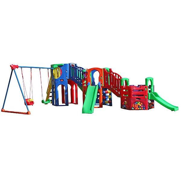 Polaris Fly com tubo, escorregador e piscina de bolinhas Freso Brinquedos 600 × 350 × 220 cm - Ref.29206-C