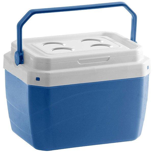 Caixa Térmica de Plaástico 17 Litros Paramount Azul 25 x 39 x 31 cm   - Ref. 853