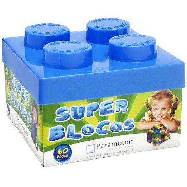 Super Blocos de Brinquedos com 60 Peças Coloridas Paramount - Ref. 383
