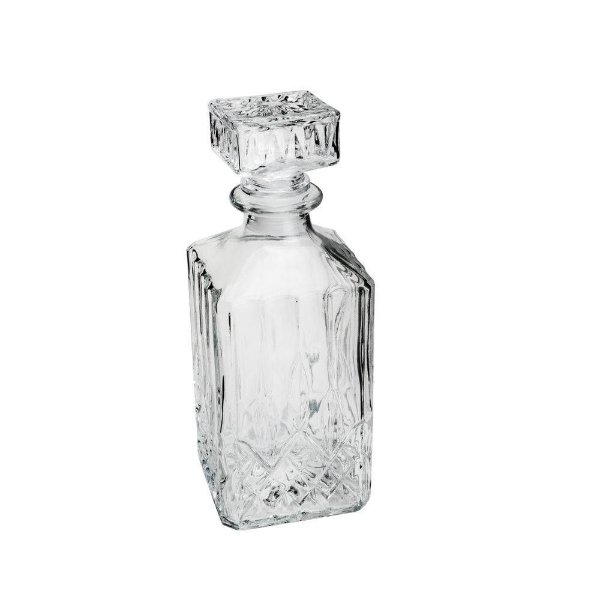 Garrafa para Whisky Lyor de Vidro Hamilton 700 ml Tamanho 9 x 9 x 24 cm - Ref. 7248