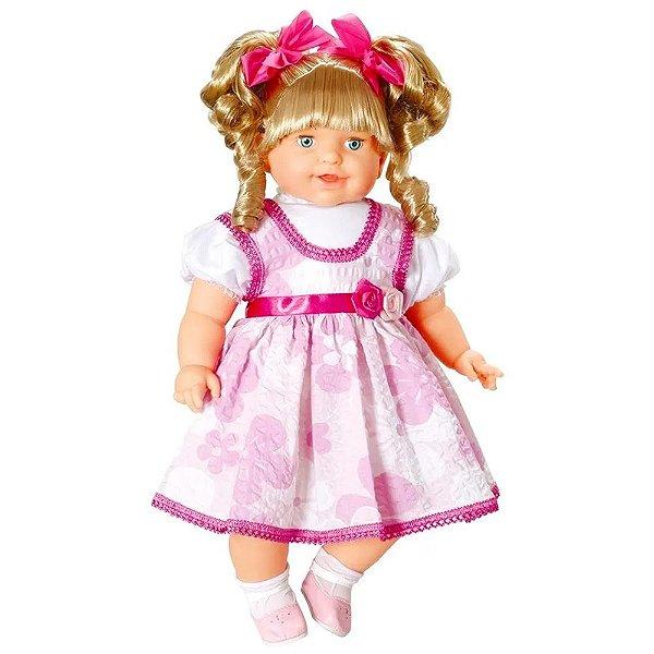 Boneca Thaily com Cabelo Fala Mais de 50 Frases Anjo Brinquedos - Ref: 772