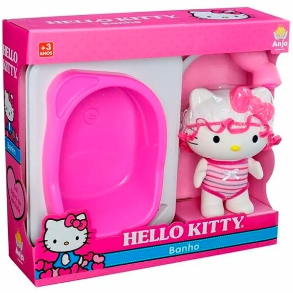 Boneca Hello Kitty Banho Anjo Brinquedos - Ref: 9073