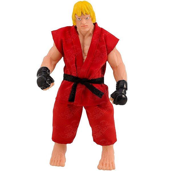 Boneco Articulado Street Fighter Ken com 30 cm Anjo Brinquedos - Ref: 9066
