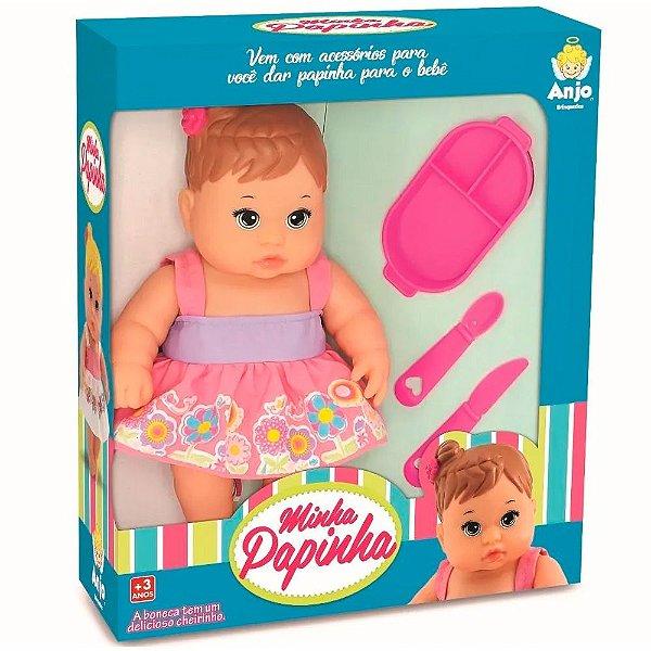 Boneca Minha Papinha Anjo Brinquedos - Ref: 2063