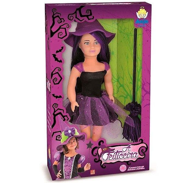 Boneca Feiticeira com Vassoura Anjo Brinquedos - Ref: 2027